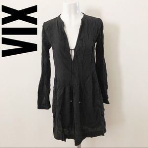 Vix black swim cover up L215